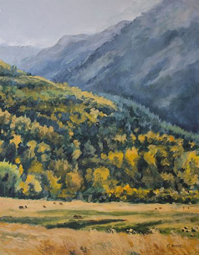 "Original Western Landscape Fine Art Painting ""UP TOWARD MARBLE"" by Colorado Artist Nancee Jean Busse, Painter of the American West"