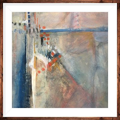 """Abstract Painting, Framed Abstract Art Expressionist Art, Contemporary Painting """"Moving Up"""" by Virginia Contemporary Artist Lou Jordan"""