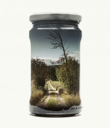 New Finnish Landscapes Captured Within Jars by Christoffer Relander