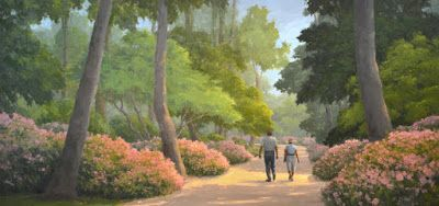 Bayou Bend Pathway - 2nd of 3 Ten-Foot Commissioned Paintings