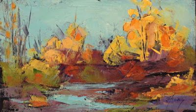 """Impressionist Landscape,Trees, Fine Art Oil Painting """"Secluded View"""" by Colorado Contemporary Fine Artist Jody Ahrens"""