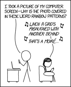 Comic: That's a Moiré in Photography