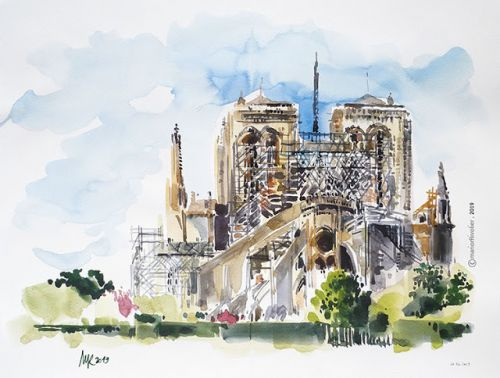 Notre-Dame de Paris after the fire