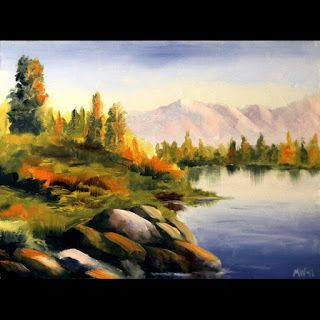 Mark Webster - Untitled Landscape Oil Painting 62411