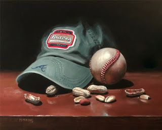 Braves Hat, Ball and Peanuts - SOLD