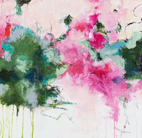 """Contemporary Abstract Expressionist Acrylic Painting """"ORDINARY GRACE"""" by Pamela Fowler Lordi"""