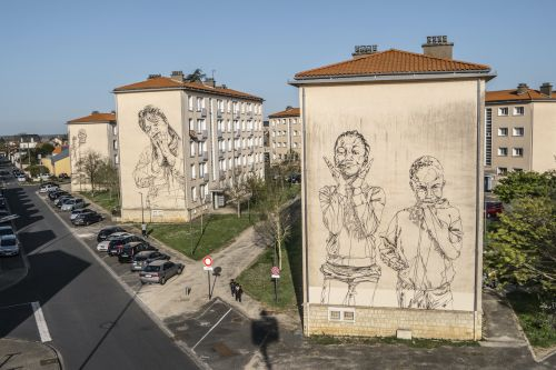 """""""Unique Characters"""" by Mahn Kloix in Poitiers, France"""