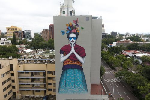 Frida Kahlo mural by Fin DAC in Mexico