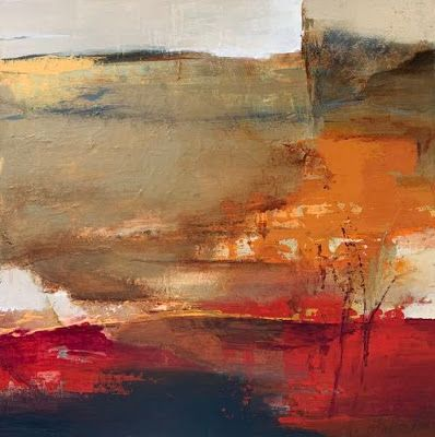 """Contemporary Art, Abstract Landscape Painting, Fine Art for Sale """"Shifting Horizon"""" by Intuitive Artist Joan Fullerton"""