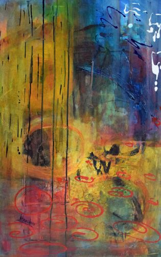 """Contemporary Art, Abstract Realism Painting, Expressionism, """"This Way Forward"""