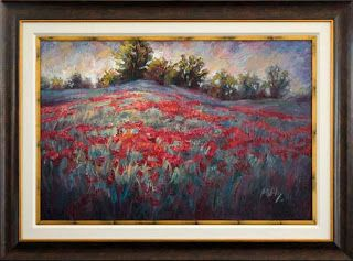 """""""Red Carpet Ride"""" Texas Wildflower Painting by Niki Gulley"""