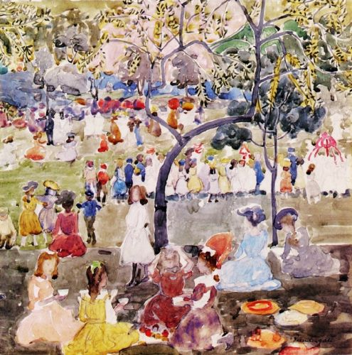 1901-03 SPRING in Central Park with Ribbons