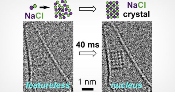 The First Real-Time Atomic Resolution Footage of Salt Crystals Forming