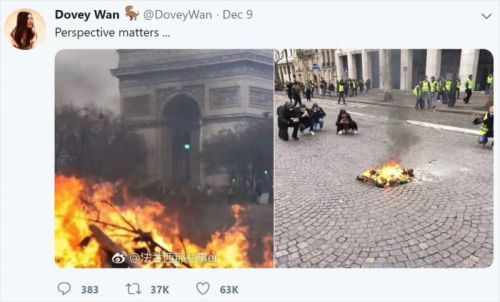 That 'Debunking' of a Paris Protest Fire Photo is Fake