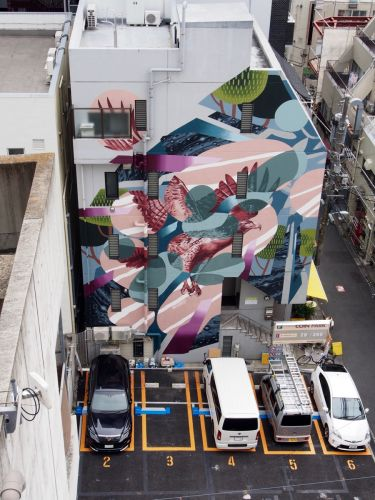 """""""Sync"""" by WHOLE9 in Tokyo for The Mural City Project"""