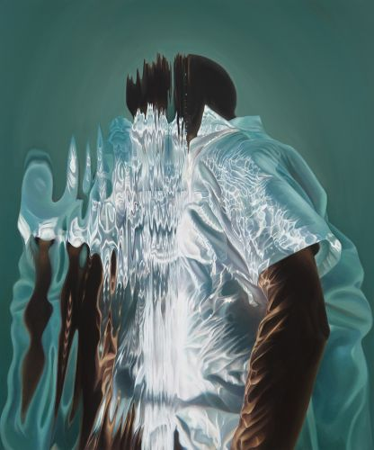 Metaphorical Paintings by Calida Garcia Rawles Obscure Black Subjects with Gleaming Ripples of Water