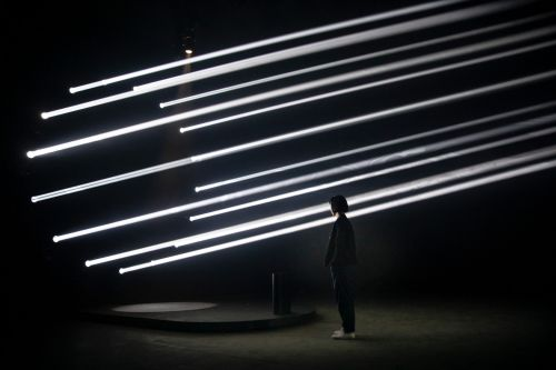 Interactive Beams of Light Examine Movements of the Human Body During Milan Design Week