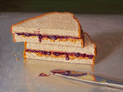 Pb&j sandwich daily painting a day