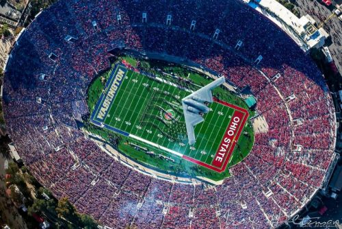 Shooting a B-2 Stealth Bomber Flying Over the Rose Bowl