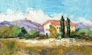 $1 AUCTION - LANDSCAPE OIL STUDY by TOM BROWN