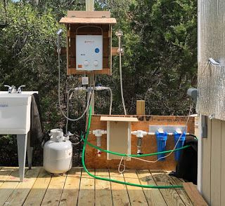 Shower system at my off-the-grid haven