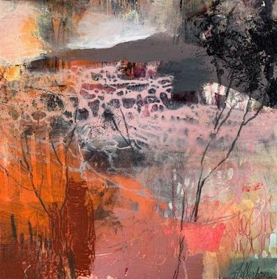 "Abstract Landscape Painting, Contemporary Art ""Place of Tomorrow"" by Intuitive Artist Joan Fullerton"