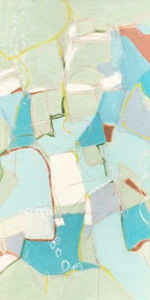 """Contemporary Abstract Expressionist Painting """"SHE SELLS SEA SHELLS"""" by Contemporary Abstract Expressionist Pamela Fowler Lordi"""