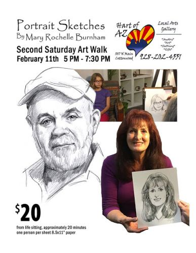 Pencil Portrait Sketches At February 11, 2017 Art Walk