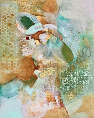 "Mixed Media, Expressionism,Contemporary Art, Fine Art For Sale ""FINDING JOY"" by Contemporary Artist Liz Thoresen"