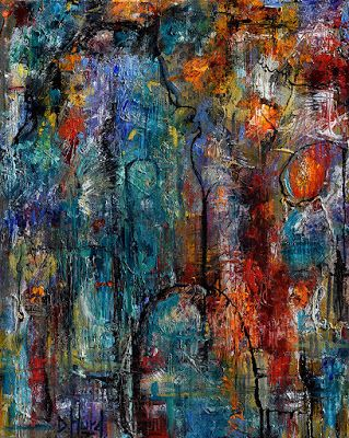 "Palette Knife, Abstract Painting, Contemporary Art on Canvas ""Variations"" By Debra Hurd"