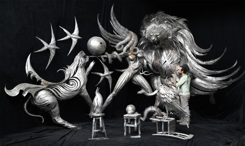 Enormous Metal Sculptures by Selçuk Yılmaz Embody Chaotic Effects of Climate Change