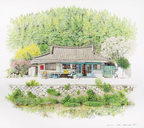 Delicate Paintings by Lee Me Kyeoung Document the Idiosyncrasies of South Korean Corner Stores