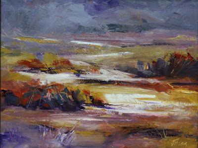 "Contemporary Impressionist Landscape Painting, Fine Art Oil Painting ""Brewing Storm"" by Colorado Contemporary Fine Artist Jody Ahrens"