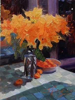"""""""Azaleas"""" Plein air, still life , oil painting by Robin Weiss and Arts in the Woods 2018"""