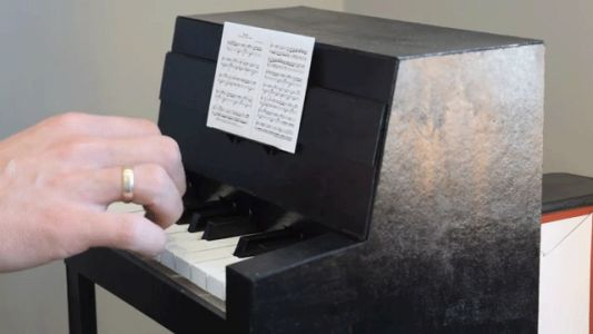 Classic Compositions Performed on a Miniature Paper Piano by Aliaksei Zholner