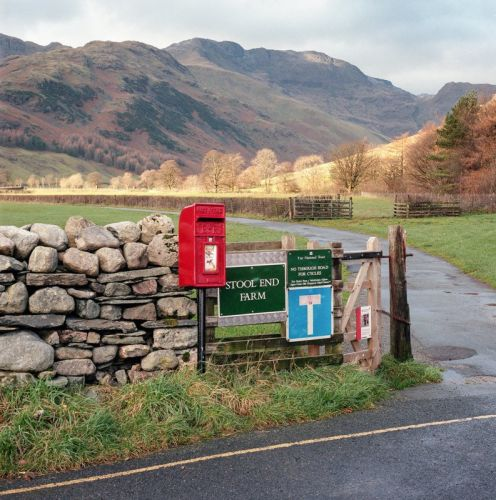 Photos of Iconic British Red Post Boxes in the Lake District National Park