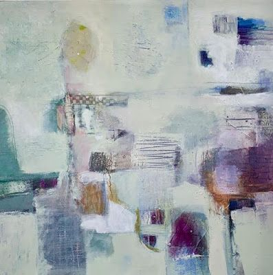 "Abstract Art, Contemporary Painting, Expressionism ""Finding the Quiet Place"" by Contemporary Artist Liz Thoresen"