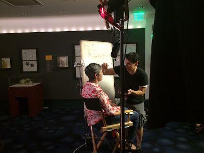 Filming at the Walt Disney Family Museum