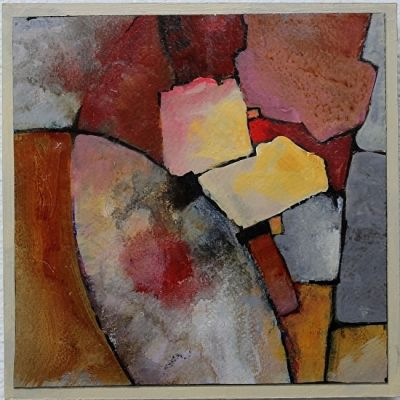 """Contemporary Abstract Geological Painting """"MOSAIC 2"""" © Carol Nelson Fine Art"""