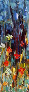 "Original Palette Knife Flower Painting ""Wreck of the Petals ""by Colorado Impressionist Judith Babcock"