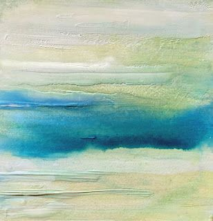 """Abstract Landscape,Skyscape Painting """"In The Clouds"""" by California Artist Cecelia Catherine Rappaport"""