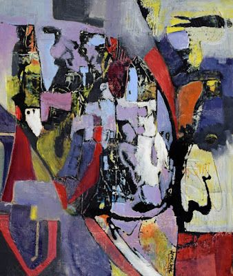 """Abstract Painting, Expressionism, Contemporary Art Painting """"Initiative"""" by International Abstract Artist Arrachme"""