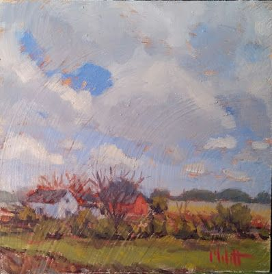 Rural Landscape Art Original Oil Painting Heidi Malott