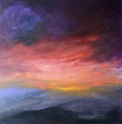Landscape, Sunset Oil Painting