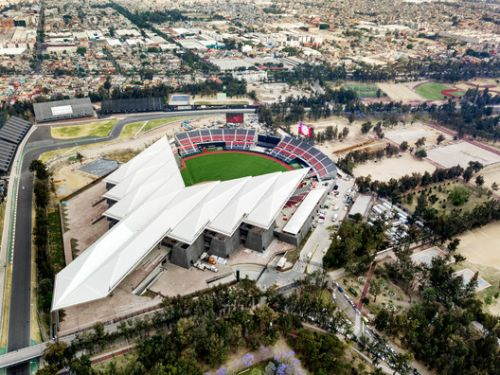 "FGP Atelier's ""Devil Tail"" Baseball Stadium Opens in Mexico City"