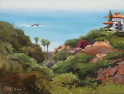 View From The Bluffs -a plein air painting from San Clemente