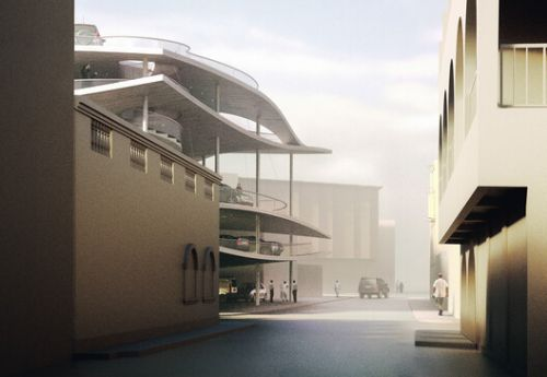 Christian Kerez Designs Parking Structure in Bahrain as Part of the Pearl Path Project