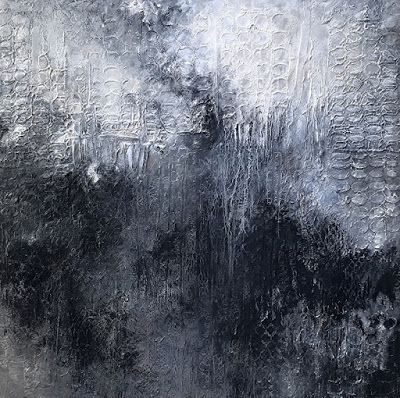 """Mixed Media Art, Contemporary Painting, Expressionism, Abstract, """"AFTER THE SWAN SONG"""" by Portland Contemporary Artist Liz Thoresen"""