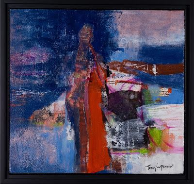 "Mixed Media Abstract Painting, Contemporary Art, Expressionism, ""Ascending Master"" by Contemporary Artist Tracy Lupanow"