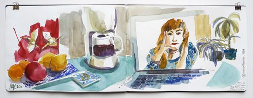 Virtual Drink, Share and Draw - Lockdown Diary
